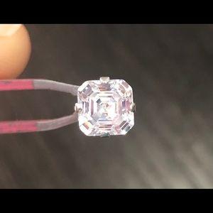 Ascher cut 925 silver and Swarovski earrings